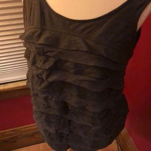 JCrew tank top with silky layers